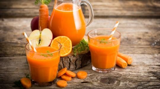 Jus pomme, carotte, orange